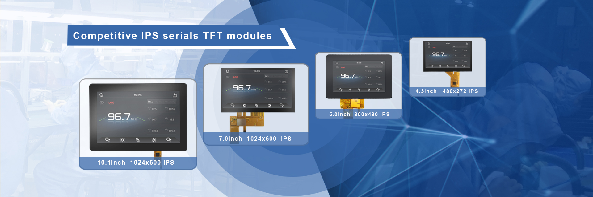 Competitive IPS serials TFT modules